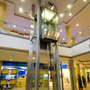 Panoramic elevator equipped with hydraulic components from Bucher Hydraulics